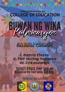 COE Buwan ng Wika Kulminasyon - University of San Jose