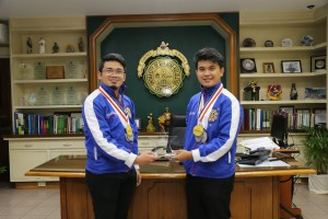 From left is Maxwell Soller and Miguel Luis Ibaseta, M Squared