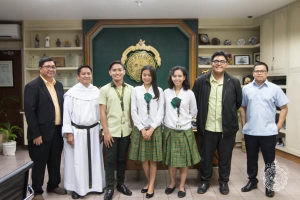 USJ-R EDUCATION AND CAS STUDENTS W/ FR. PRESIDENT