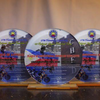USJ-R Cebu award plaque by CHED Photo by Mitzi Ambrad